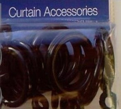 10 extra rings - black effect - for cafe net curtain rods 12mm