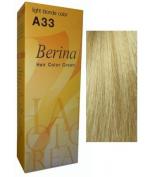 Berina Hair Colour Cream Permanent A33 -Light Blonde colour