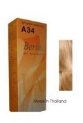 Berina Hair Colour Cream Permanent A34 -Light Golden Blonde colour