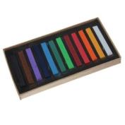 12 Colours Non-toxic Temporary Hair Colour Chalk Square Hair Chalk