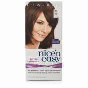 Clairol Nice n' Easy Hair Colour #75 Light Ash Brown (Pack of 3) UK Loving Care