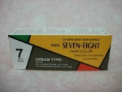 10 PAON SEVEN-EIGHT CREAMY TYPE HAIR colour SOFT BLACK # 7