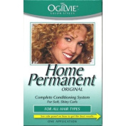 Ogilvie Home Permanent Complete Conditioning System for Soft, Shiny Curls for All Hair Types, One Application