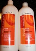 Matrix Sleek Shampoo & Conditioner Litre Duo