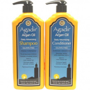 Agadir Argan Oil Daily Volumizing Shampoo & Conditioner Litre