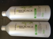 Matrix Biolage Advanced Fiberstrong Shampoo and Conditioner Litre Duo + (2) Free Pumps