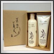 Komenuka Bijin Japanese Natural Rice Bran Hair Shampoo Gift Set
