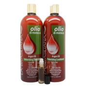 """La Brasiliana Olio Argan Oil Volumizing Shampoo, Conditioner 950ml """"Duo SET"""""""