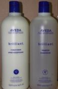 AVEDA Brilliant Shampoo Conditioner Litre SET combo duo 1000ml