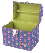 Creative Options Treasure Trunk 17cm x 13cm X7.2220cm -Magenta/Green/Purple