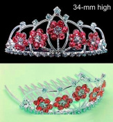 New Bridal Flower Girl Prom Party Crown Tiara Comb T38