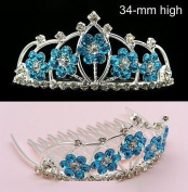 New Bridal Flower Girl Prom Party Crystal Tiara Comb 52