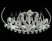 New Bridal Flower Girl Prom Party Crystal Tiara Comb 49