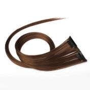 Vktech Golden Brown Clip On Hair Straight Extensions Long Elegant Easytouse