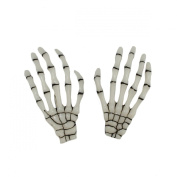 1 Pair Fashion Hot Sale Skeleton Hand Bone Hairslides Hair Clip Punk Hairpin Hair Pin White Luminous