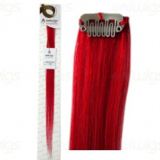 Uniwigs 46cm Red colour Remy Human Hair Single Clip In Extension Hot Sell items