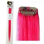 Uniwigs 46cm Colourful Pink Remy Human Hair Single Clip In Extension for sale