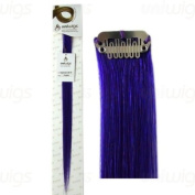 Uniwigs 46cm Purple colour Remy Human Hair Single Clip In Extension.