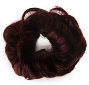 Fun Bun Synthetic Hair Scrunchie 131 Dark Wine