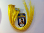 Remy Blue Clip-hair Highlight 100% Remy Human Hair 2pcs 30cm Yellow