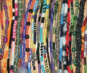 Hippie Hair Wraps, Yarn Falls, Adjustable Colourful Hair and Dreadlock Extensions