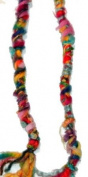 Fuzzy, Raggedy Rainbow Colours Hippie Hair Wraps Hair Extensions for Dreads, Braids, Curls