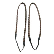 ECOSCO 2pc braids Human Hair Extensions for Women's Beauty Hairsalon in Fashion
