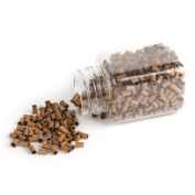 Yesurprise 1000pcs Copper Micro Link Tubes Rings 3.5mm Beads Lined for I Tip Hair Extension Dark Blonde