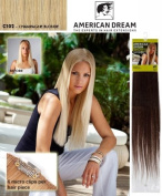 American Dream Quick-Fix Clip In Hair Extensions - 100% Human Hair Colour C102 -Champagne Blonde
