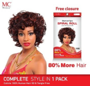 Michelle Human Hair Short Cut Series Spiral Roll 5pcs #1