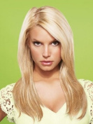 hairdo from Jessica Simpson and Ken Paves 60cm Vibralite Synthetic Clip-In Extension, Straight, Midnight Brown