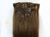 NEW 38cm 46cm 50cm 60cm 7pcs Clip in 100% Remy Human Hair Straight Extensions