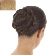 Golden Blonde Lattice Effect Clip In Hair Bun   Clip on Glamorous Hairpiece   Available in 5 Colours