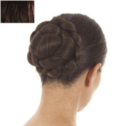 Dark Brown Lattice Effect Clip In Hair Bun | Clip on Glamorous Hairpiece | Available in 4 Colours