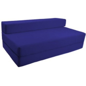 Comfortable Supreme Quality 100% Cotton Double Fold Out Z Bed Chair Futon in Royal Blue. Soft, Comfortable & Lightweight with a Removeable Cover. Available in 12 Colours.