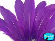 Moonlight Feather, Goose Feathers - Purple Goose Satinettes Loose Feathers (Bulk) - 1/4th Pound
