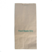 8 Litre x 50 Paper Compostable Bags Kitchen Caddy Liners - Food Waste Bin Liners - EcoSack 8L Biodegradable Bags with Composting Guide