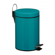 3L Pedal Trash Can Bin Turquoise colour Home Office Indoor outdoor Use