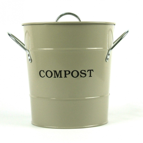 metal kitchen compost caddy clay colour composting. Black Bedroom Furniture Sets. Home Design Ideas