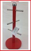 Mug Tree Kitchen Roll Holder Glass Paper Holder Red Stainless steel New