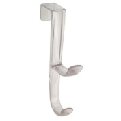 BlissHome, Interdesign, Mono, Over the Door Double Hook, Clear