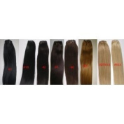 46cm 100% Human Hair Extension Weft - Soft Silky - No Clips Included