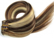 Grammy 20-70cm 10pcs Remy Clips In Human Hair Extensions 160gr With Clips For Full Head