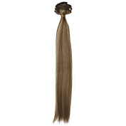 Euronext Premium Remy 36cm Clip-In Human Hair Extensions Dark Blonde Frost