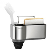 simplehuman standard brushed stainless steel sink caddy, 5 year warranty