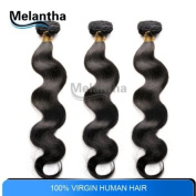 DHL Free 8-70cm Brazilian Virgin Hair Weft Grade 5a Dyeable Bleachable Queen Hair Extension 100% Human Hair Weave Body Wave 3pcs/lot Melantha