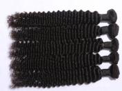 Human Hair Direct 100% Brazilian Remy Human Hair Extensions DEEP WAVE Bundle, 100g, Grade AAAAA (#1 - Jet Black
