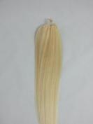 46cm 100grs,100s,Micro Loop(Rings) Human Hair Extensions #60 White Blonde
