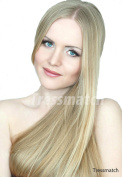 50cm (60cm ) Remy(remi) Human Hair Clip in Extensions Wheat Blonde (Colour#16) 9 Pieces(pcs) Full Head Volume Set [set weight:4.3oz/120grams]