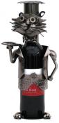 Metal Wine Bottle Holder - Cat Chef